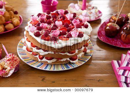 Colorful Birthday Cake
