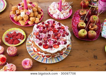 Table With Sweet Treats