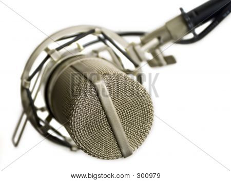 studio microphone isolated (view from the top) poster
