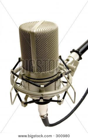 studio microphone (side view) poster