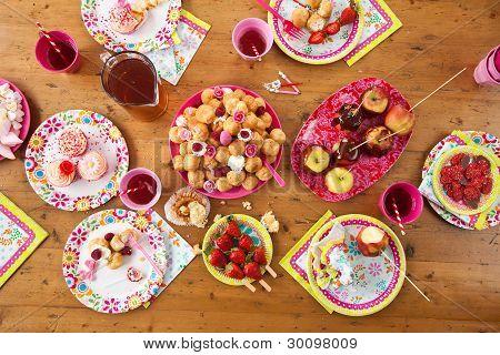 Table With Birthday Treats
