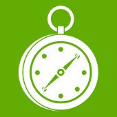 Multifunction knife icon white isolated on green background. illustration poster