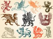 Mythical animals poster