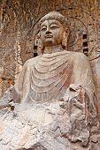 The Big Vairocana of Longmen Buddha Grottoes. Luoyang, China poster