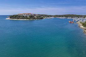 Aerial Shot Of Verudela Lagoon In Pula, Croatia