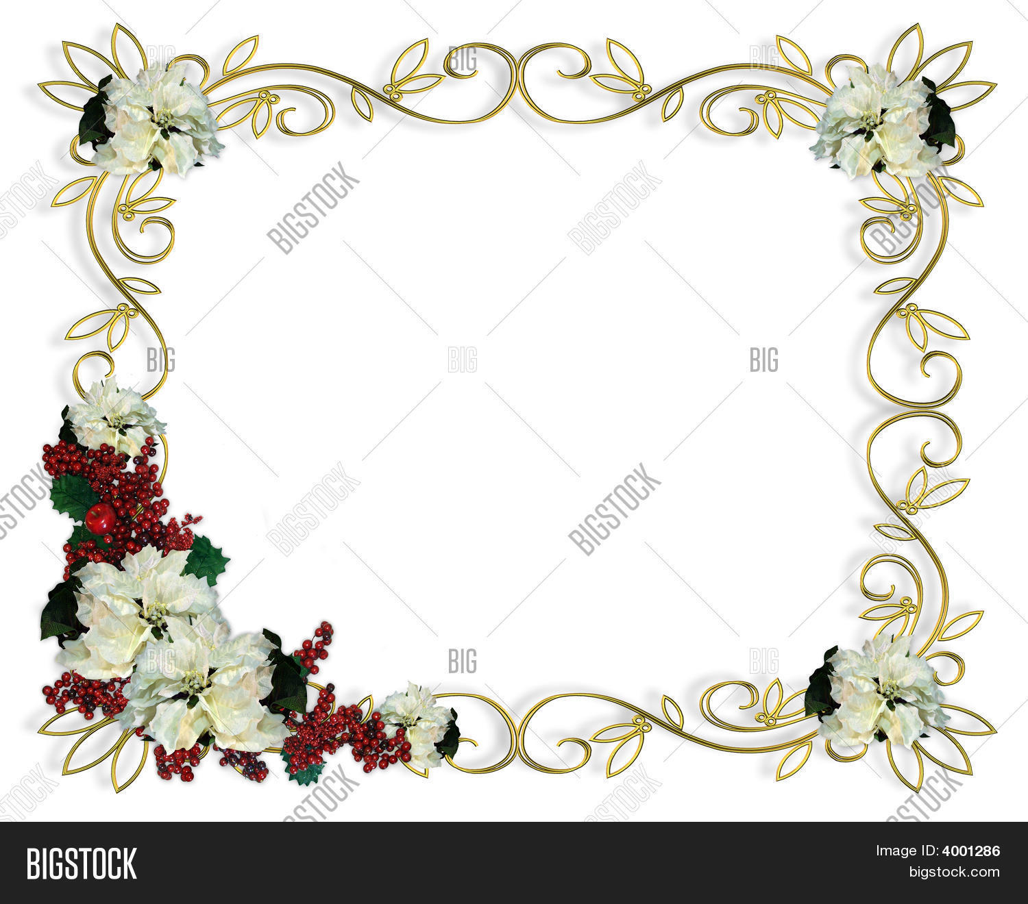 Christmas Frame Gold Image & Photo (Free Trial) | Bigstock