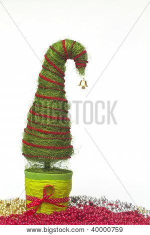Christmas Tree Made Of Sisal