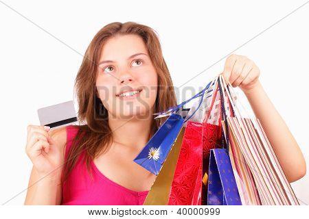 Beautiful Young Girl Shopaholic