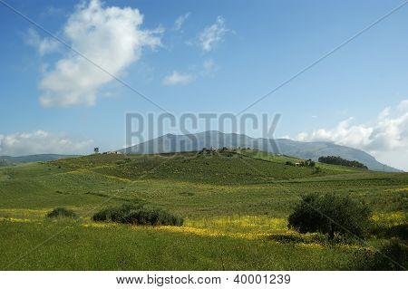 Mountain Valley - Landscape, Island Sicily, Italy