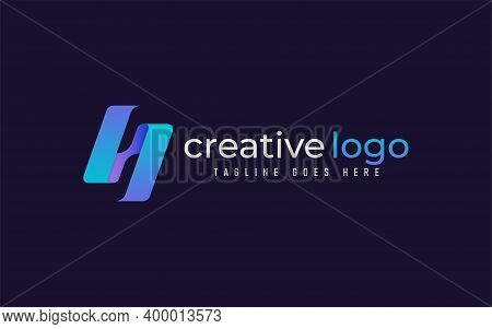 Abstract Letter N With Gradient Blue Logo Design. Creative Logo Design, Usable For Business, Communi