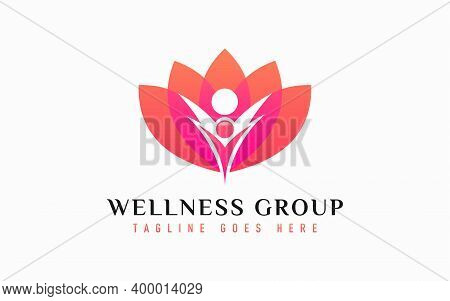 Wellness Group Logo Design. Usable For Business, Community, Industrial, Medical, Tech, Services Comp