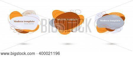 Modern Dynamic Flow Shape Element Set Banner
