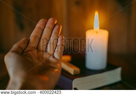 A Woman Sitting And Reading The Bible And Pray For God's Blessing With Faith In His Power The Idea O