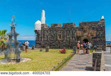 Garachico, Tenerife, Canary Islands - June 06, 2018:  View Of  Castillo De San Miguel , San Miguel C