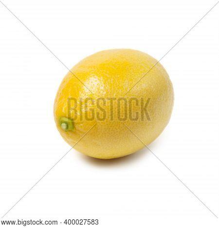 Fresh Ripe Lemons Isolated On White Background