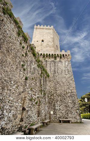 Venus Castle At Erice, Sicily, Italy