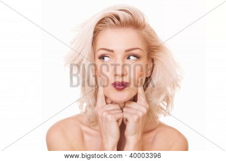 Blonde Woman Looking Away