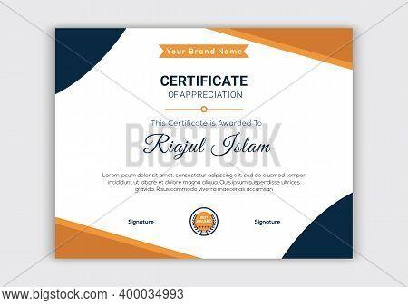 Modern Certificate Template. Certificate Design, Certificate Template Awards Diploma. Professional C