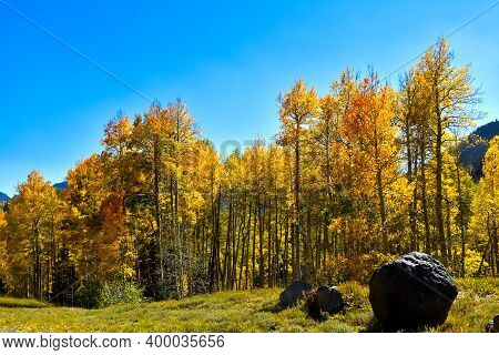 Fall Colors On The San Juan Skyway In Colorado.