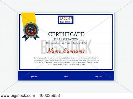 Certificate Template Awards Diploma. Professional Certificate, Certificate Design,