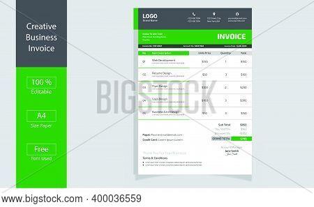 Price Invoices.invoice Minimal Design Template. Bill Form Business Invoice. Business Invoice.money B