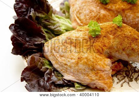 Marinated Chicken Drumstick on Plate