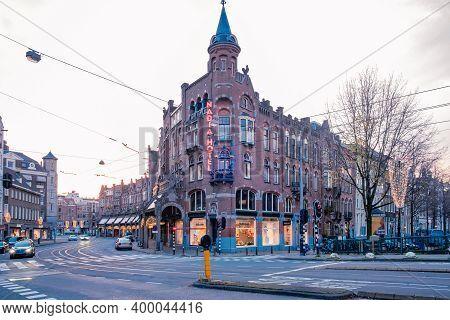 Amsterdam Netherlands December 2020, Empty Streest Of Amsterdam In December During Second Lockdown I