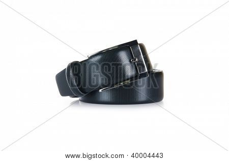 Male elegant belt isolated on the white