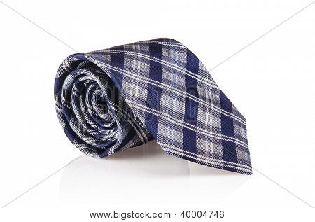Elegant silk male tie ( necktie ) on white
