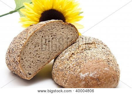Baked Bread with Sunflower