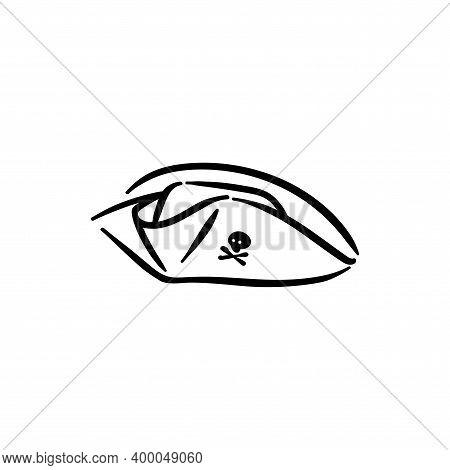 Robber Pirate Corsair Hat Element Vector Illustration