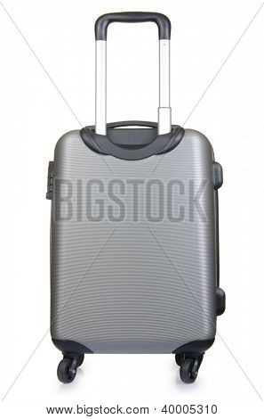 Travel luggage isolated on the white background