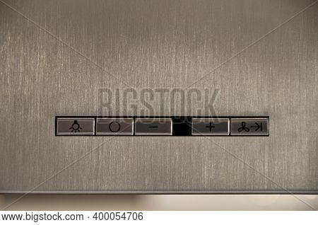 Modular Stainless Steel Inox Built-in Hood Above The Cooker Detail