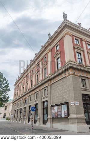 Vienna, Austria - August 30, 2020: Vienna Philharmonic Building.