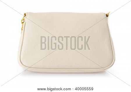 Nice elegant woman bag isolated on the white