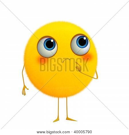 3D Cartoon Cute Yellow Ball