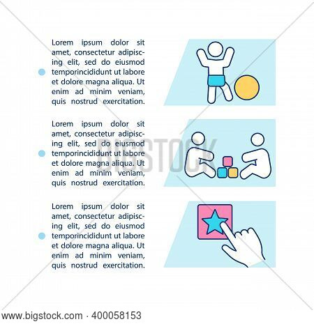 Two Year Baby Milestones Concept Icon With Text. Physical Growth. Cognitive Development. Ppt Page Ve