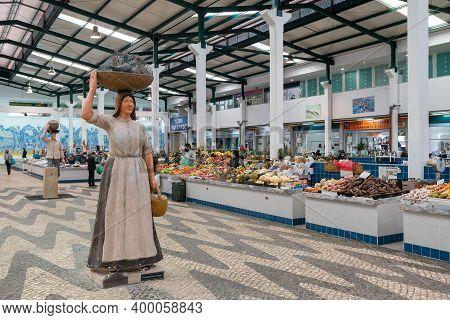 Setubal, Portugal - 18 December, 2020: View Of The Livramento Market In Setubal