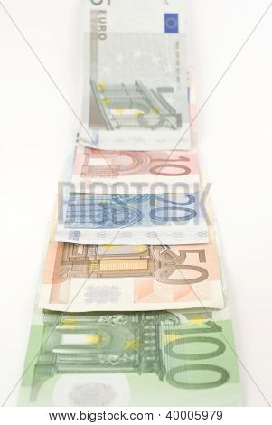Euro Banknotes Disappearing In The Horizon.