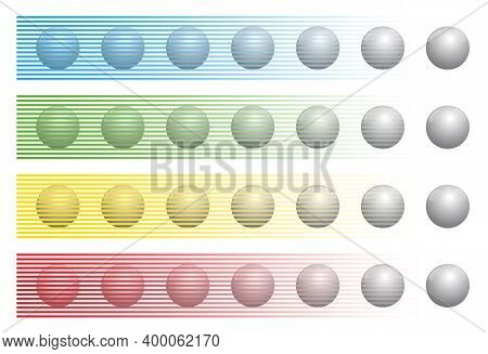 Optical Illusion With Balls Of The Same Color Behind Different Colored Stripes, Known As Munker-whit
