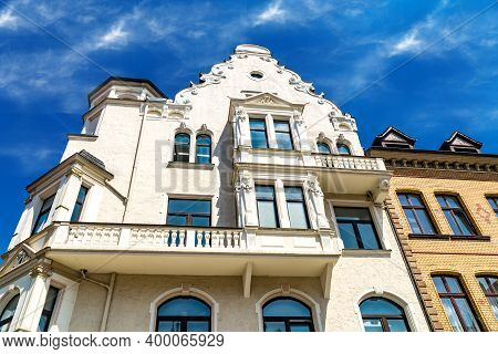 Hannoversch Muenden, Germany - 2019 -07-18: Baroque Houses In Hannoversch Muenden In Germany Nieders