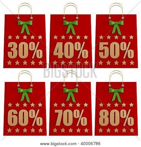 Christmas  Shopping Bags With Discounts