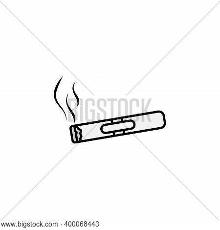 Smoker Line Icon. Signs And Symbols Can Be Used For Web, Logo, Mobile App, Ui, Ux On White Backgroun