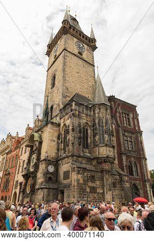 Old Town Square, Astronomical Clock In Prague, Czech Republic.