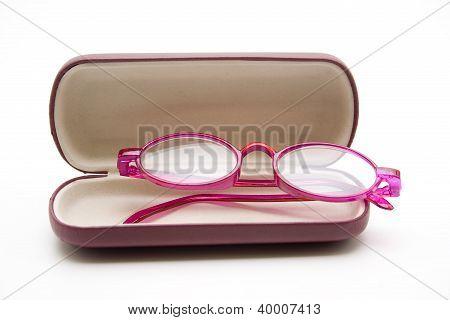 Eyeglasses in eyeglasses case