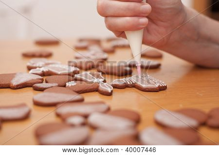Making Of Traditional Homemade Christmas Gingerbread