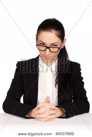 Portrait of strict business woman