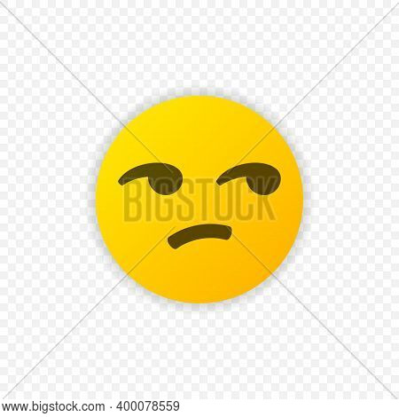 Not Funny Emoji Icon Isolated. Not Funny Emoticon. Vector Illustration Eps 10