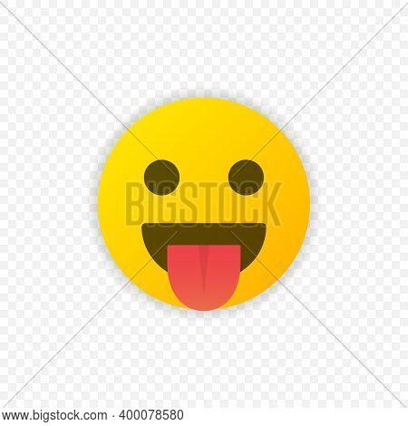 Show Tongue Emoji Icon Isolated. Tongue Emoticon Symbol. Vector Illustration Eps 10