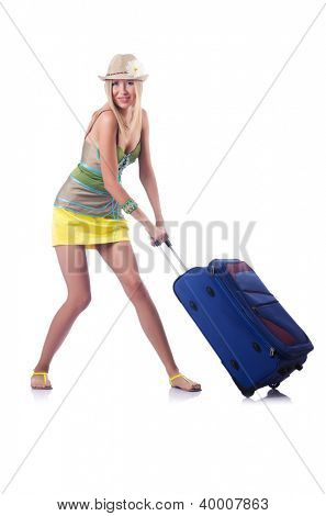Attractive woman ready for summer vacation